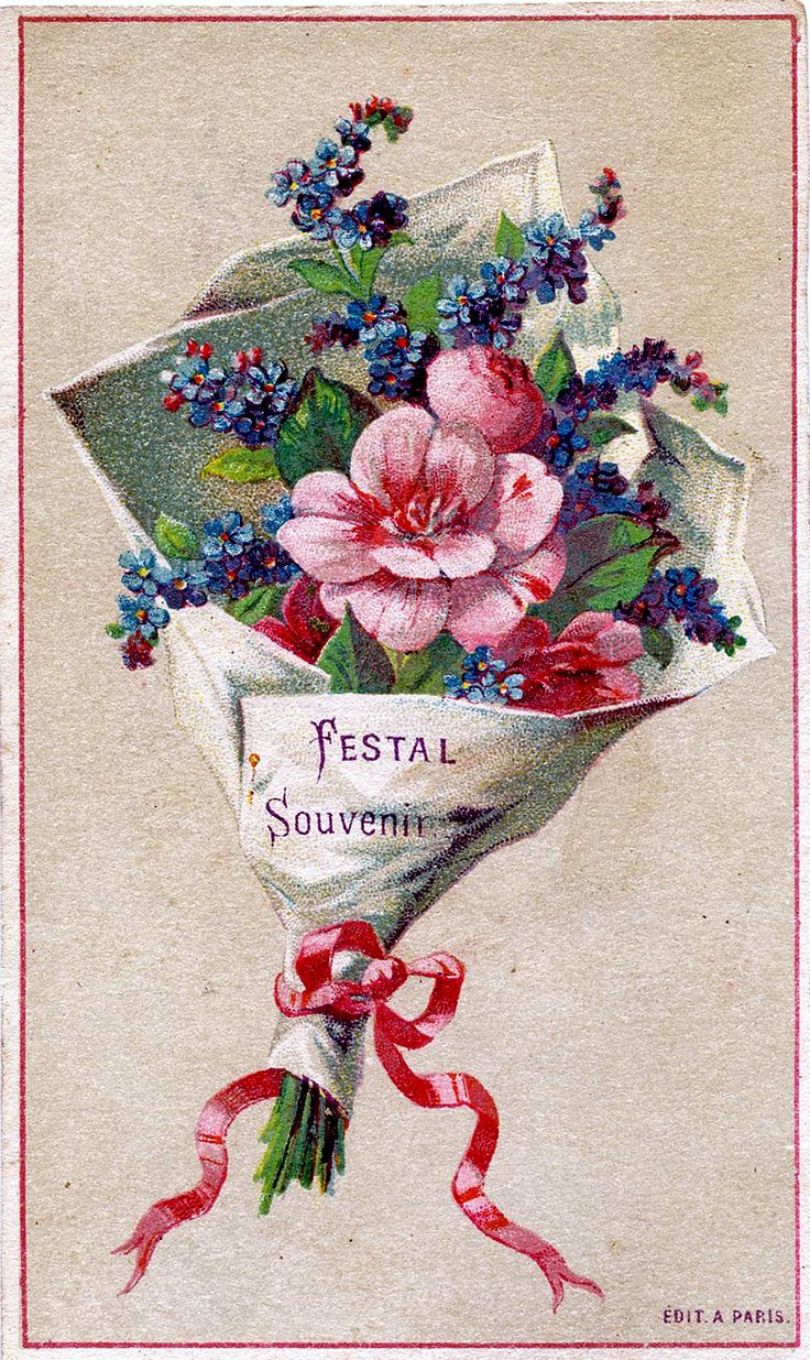 *The Graphics Fairy LLC*: Vintage Graphic - Pretty French Bouquet