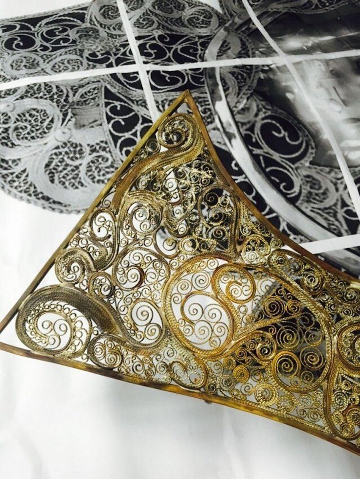 Filigran Spiegel - Schmuckherstellung Techniken | FILIGREE SPIEGEL, die neueste Neuheit präsentiert von Boca do Lobo ist ein von einer Kunstwerk, das diese alte und edle Metallverarbeitung Technik verkörpert. | wohn-designtrend.de/ | #filigran #goldspiegel #design #welovedesign