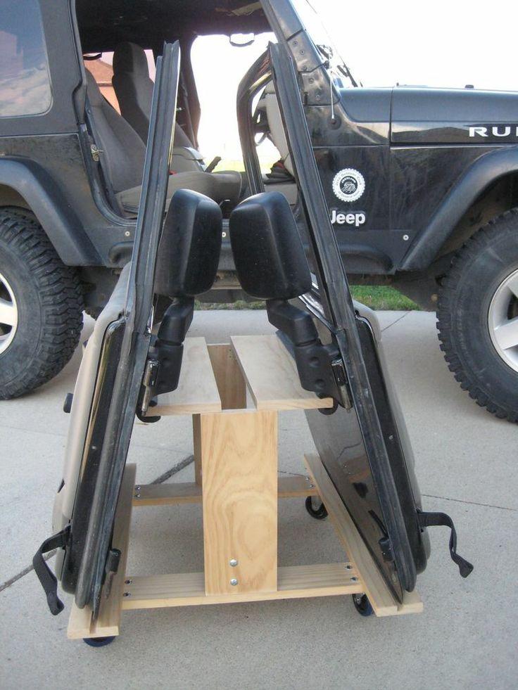 Jeep Wrangler TJ or JK 2-door Storage Cart/ Door Holder