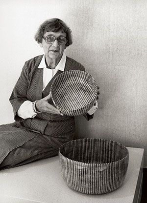 Gertrud Vasegaard (1913-2007) was a third-generation Danish potter. She lived and breathed ceramics until her death at 94. Vasegaard was little known outside of Denmark, but for one exhibition of her work in the UK in 2011. The above quote is from a review of that show. The repetition, lines and dynamic simplicity that can be attributed to her work can also be said of her classic style.