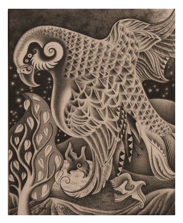 'Kaka by Night' (graphite on canvas) by Helen Casey.