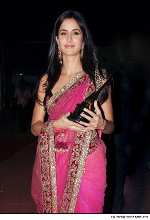 saree-pink-new with award  #KatrinaKaifSaree #pinkSaree