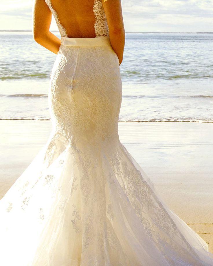 Amazing lace fishtail dress. aleksbridal.com.au