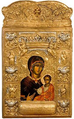 The most populat Icon of monastery Sumela in Turkey