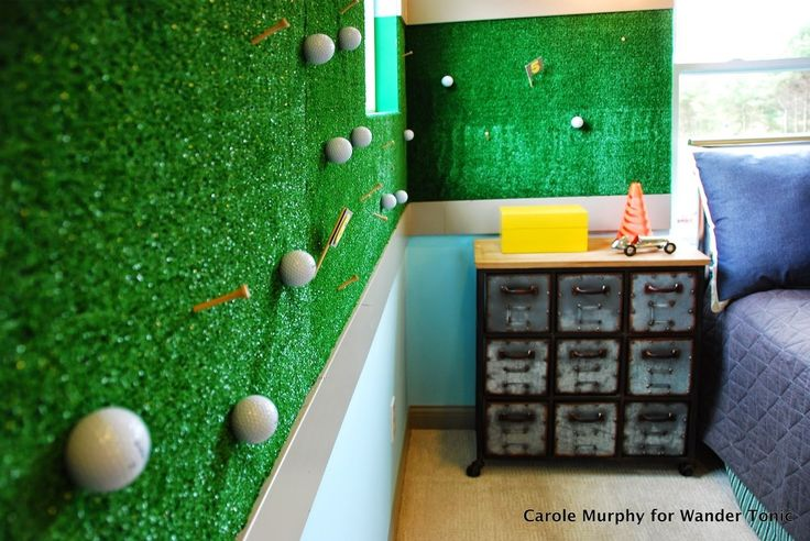 Bring the Putting Green to Your Child's Bedroom - As a former real-estate photographer, I've seen a lot of fantastic design ideas.  This charming golf-themed ch