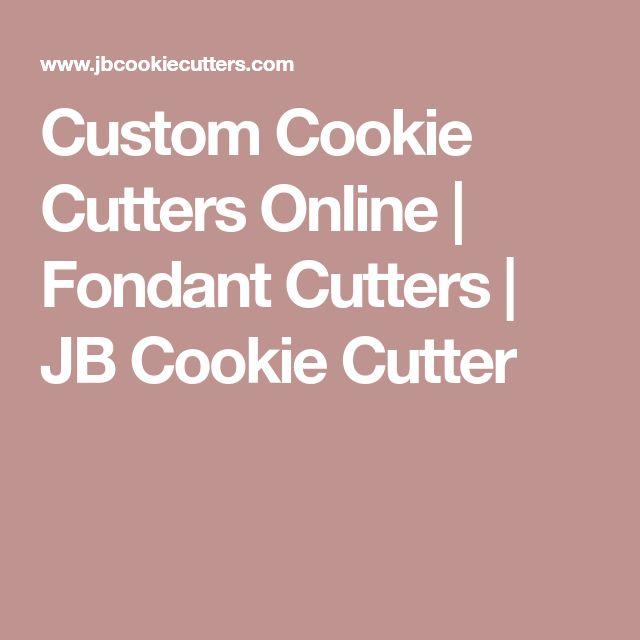 Custom Cookie Cutters Online | Fondant Cutters | JB Cookie Cutter