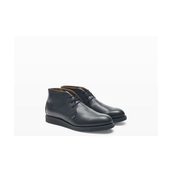 Red Wing Red Wing Postman Chukka in Color Black ($280) ❤ liked on Polyvore featuring men's fashion, men's shoes, men's boots, men's work boots, black, mens leather work boots, mens chukka boots, mens leather chukka boots, mens shoes chukka boots and mens oxford boots