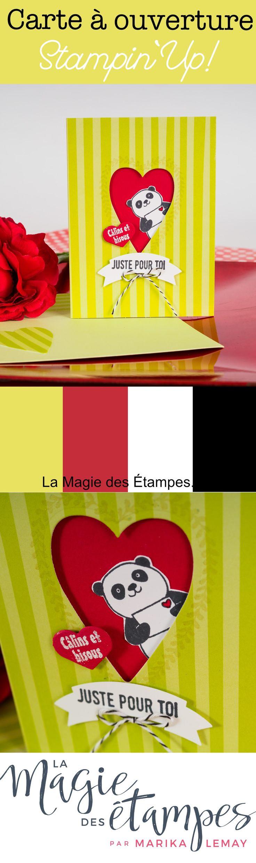 Carte de St-Valentin avec le jeu Sale-a-bration Pandas festifs Stampijn' Up!