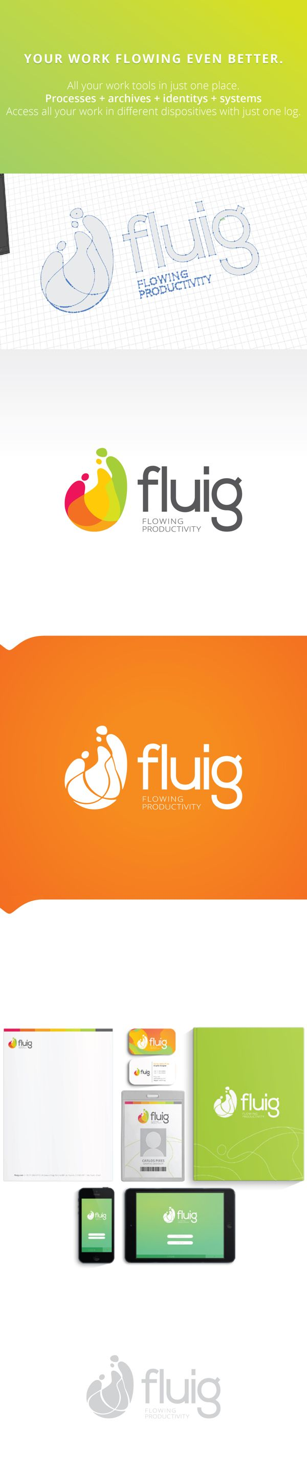 Fluig [Identity] on Behance  More: https://www.facebook.com/pages/OMGbrandme/236112833194819