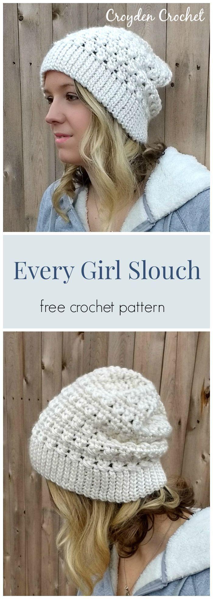 free crochet pattern / slouch hat pattern /
