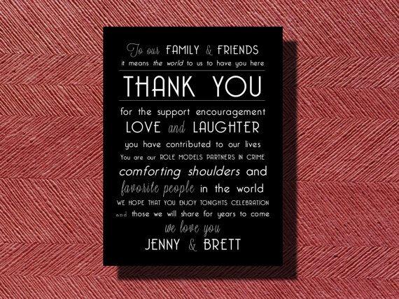 #Wedding Day #ThankYou #Card Sign Or Poster by WeddingsByJamie, $15.00