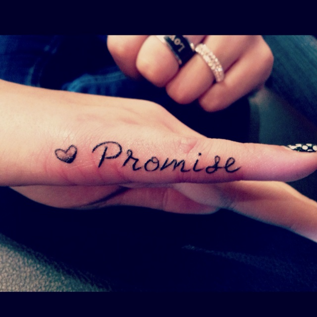 My next tattoo, but with a kiss mark instead of a heart. Cause me niece kisses my hand when we make pinky promises<3 (she 4)