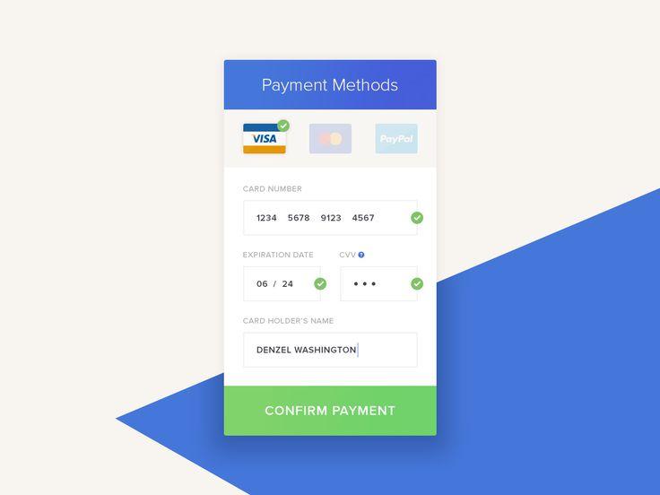 Payment method ui