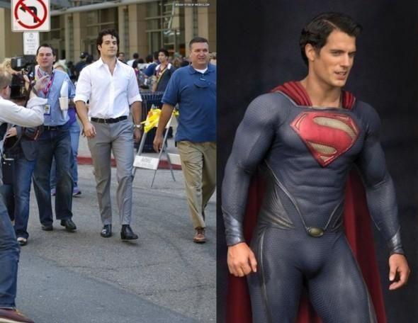 Superman-Clark-Kent-in-kostuum-en-zonder-bril