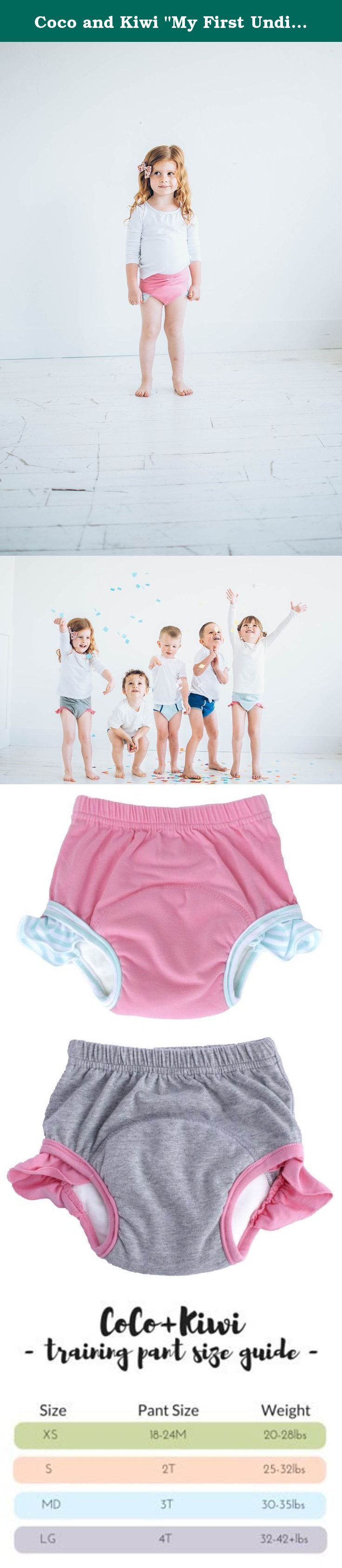 """Coco and Kiwi """"My First Undies"""" Girls' 4T - PINK+GREY - 2pk - Reusable Pull-on Baby and Toddler Underwear + Potty Training Pants. Switch to underwear without puddles with our """"My First Undies"""" collection. We utilize the absorbent power of bamboo + microfiber! Bring a bit of fun back into potty training while bringing a bit of sanity to mothers everywhere. Our Absorbent Toddler Underwear are meant for potty training and beyond. Comfy and fun designs are perfect for toddler through..."""