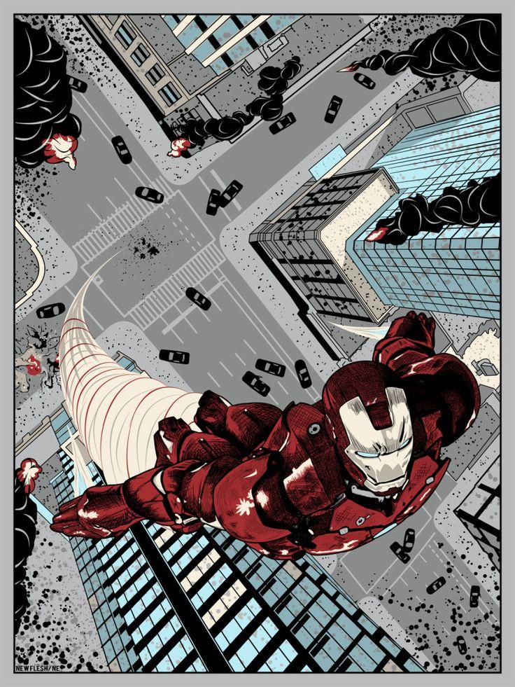 """I Am Iron Man"" by New Flesh Prints."
