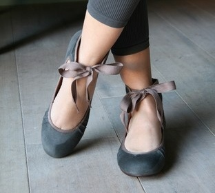 Ballet flats made to look like pointe shoes...for the failed ballerina in me.