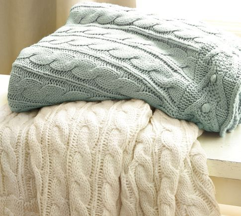 Cable-Knit Throw | Pottery Barn