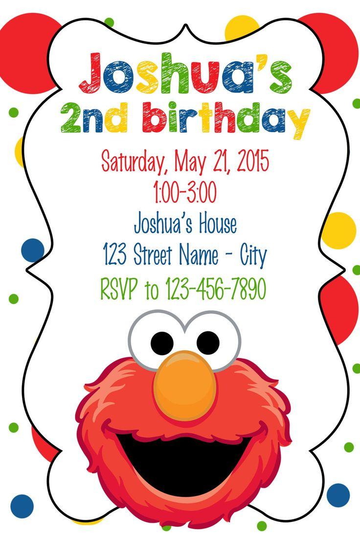 Elmo Birthday Invitation Etsy Elmo birthday