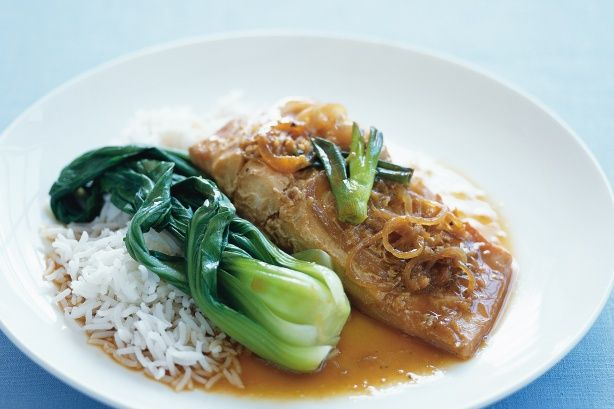 Asian spices will make your taste-buds tingle in this delicious baked fish main.