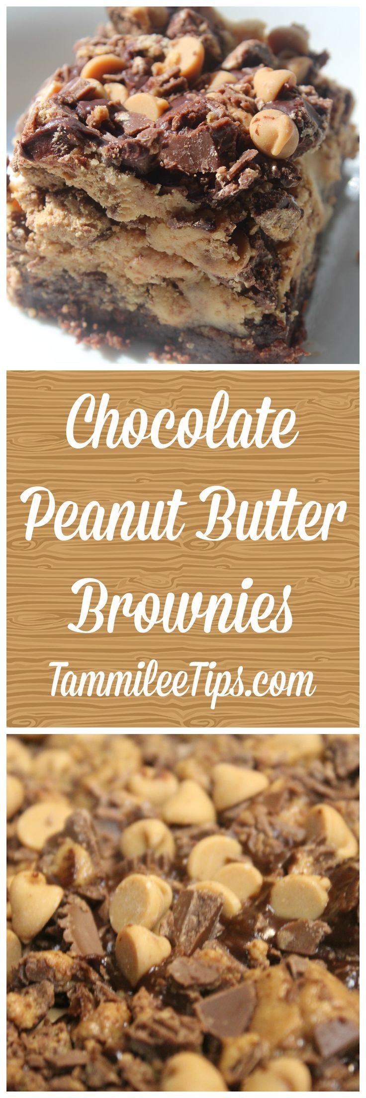 Easy Chocolate Peanut Butter Brownies Recipe! The perfect homemade sweet treat snack the entire family will love!