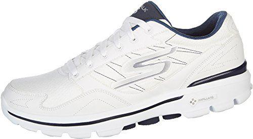 Skechers Men's Go Walk 3-Lt Wide White/Navy Casual Shoe 9.5 Wide Men US - http://all-shoes-online.com/skechers-3/9-5-2e-us-skechers-performance-mens-go-walk-3-lace-up