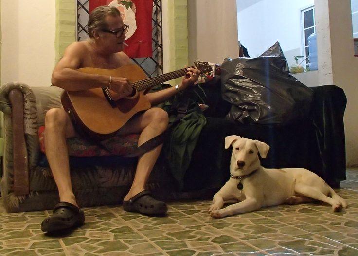 Me and my dog Sam