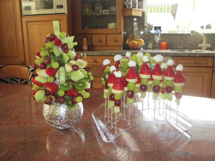 Fruit hapjes (kerst)
