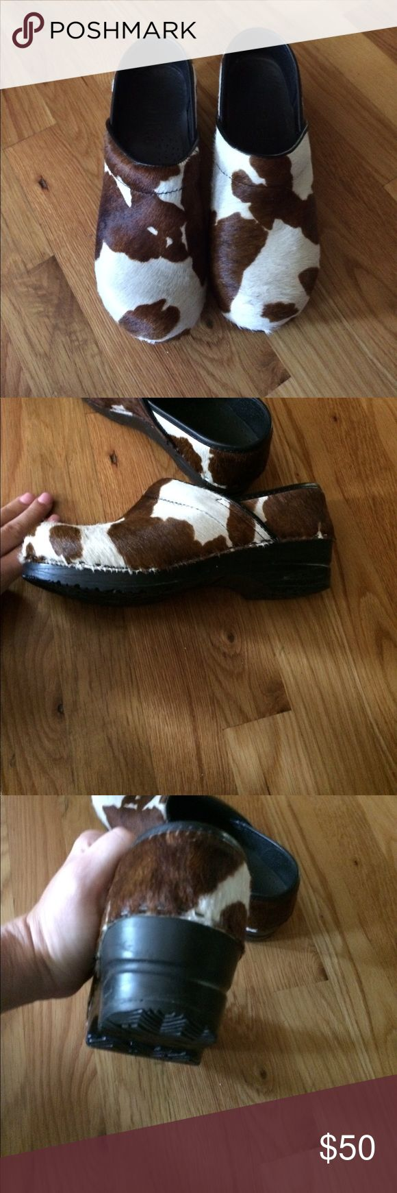 Sanitas Cow print clog. Excellent like new condition. Size 37 Sanita Shoes Mules & Clogs