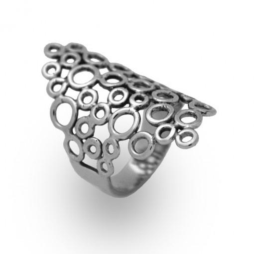 Anel Borbulha de Prata - Design e Joias de Marcia Navi