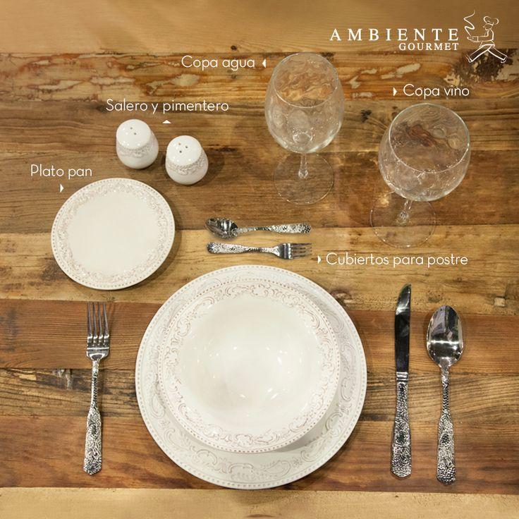 Para servir una #mesaformal en ocasiones especiales, utiliza los elementos que tienes en casa y dales un orden adecuado para guiar a tus invitados.