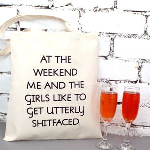 Wine, Weekend And The Girls' Tote Shopping Bag
