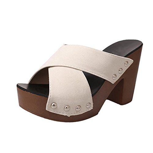 77e24431611  14.99 - DENER Women Girls Ladies High Heels Silppers