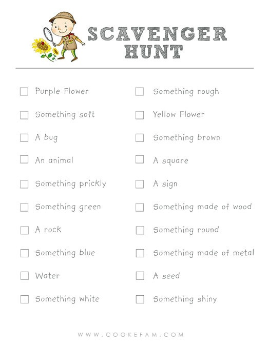 Office Scavenger Hunt List >> Spring Summer Scavenger Hunt Ideoita Hetkeen Pinterest Photo