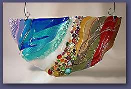 Warm glass window hanging sculpture  via:  http://www.kowalskiglass.com/
