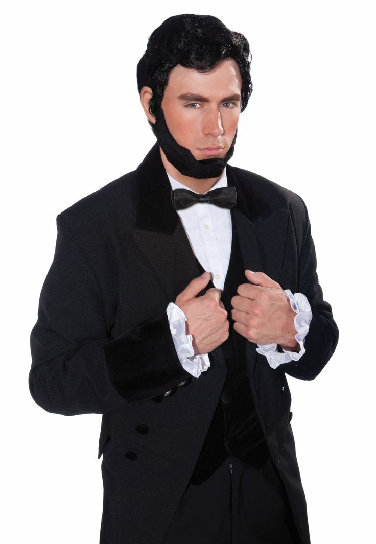 Abraham Lincoln Costume Wig & Beard Set Adult