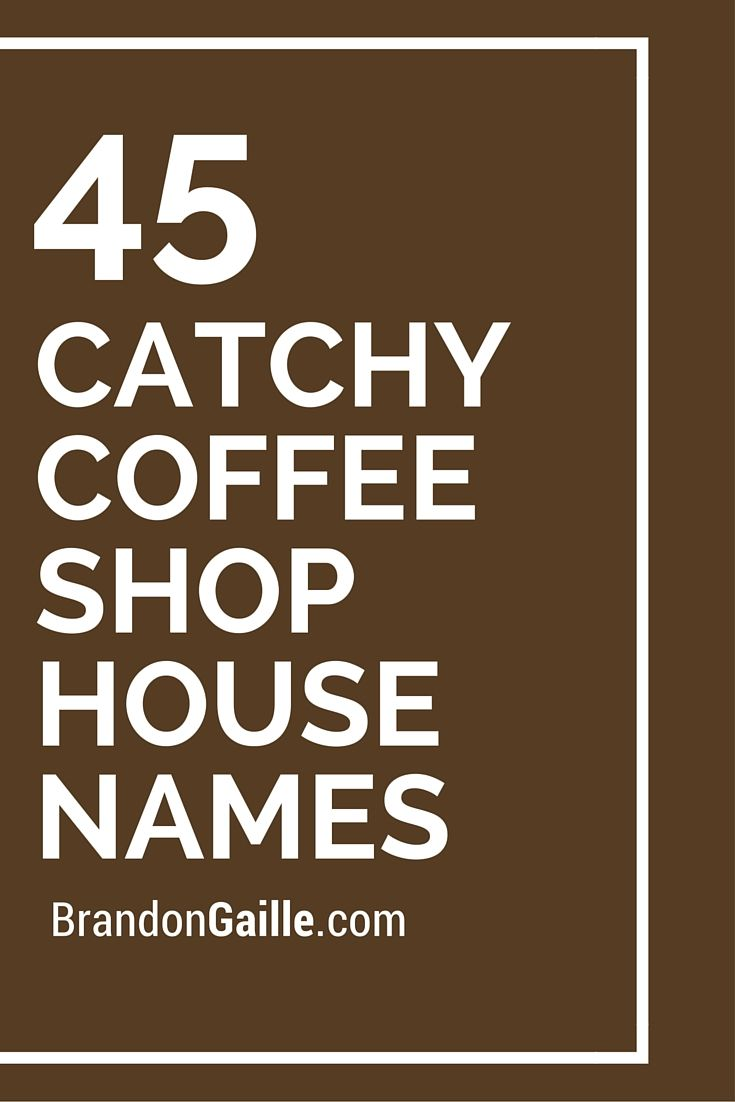 List of 45 Catchy Coffee Shop House Names
