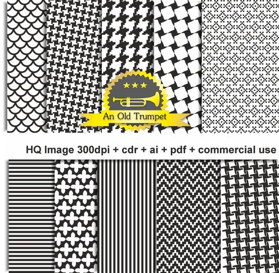 Houndstooth dogstooth  hound's tooth 04 patterns by AnOldTrumpet