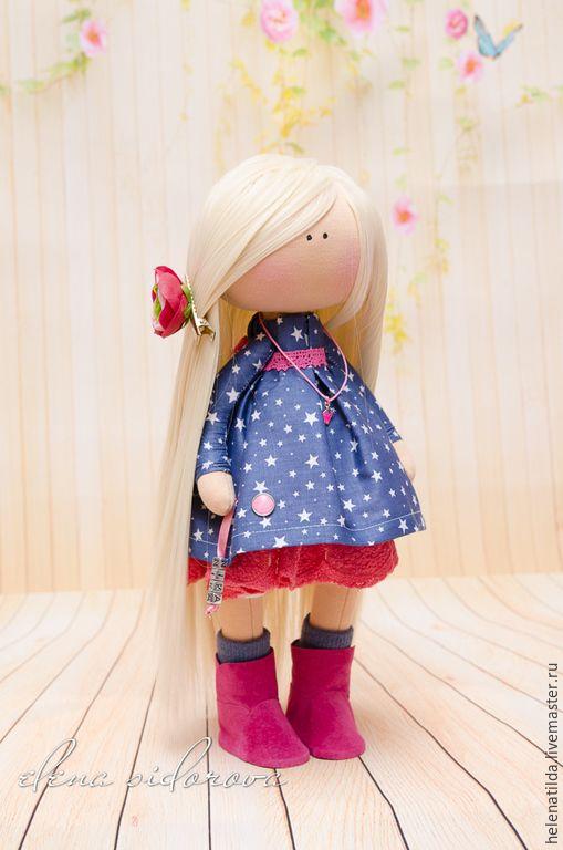 Купить NIKA - васильковый, фуксия, розовый, синий, кукла, Декор, интерьер, предмет интерьера