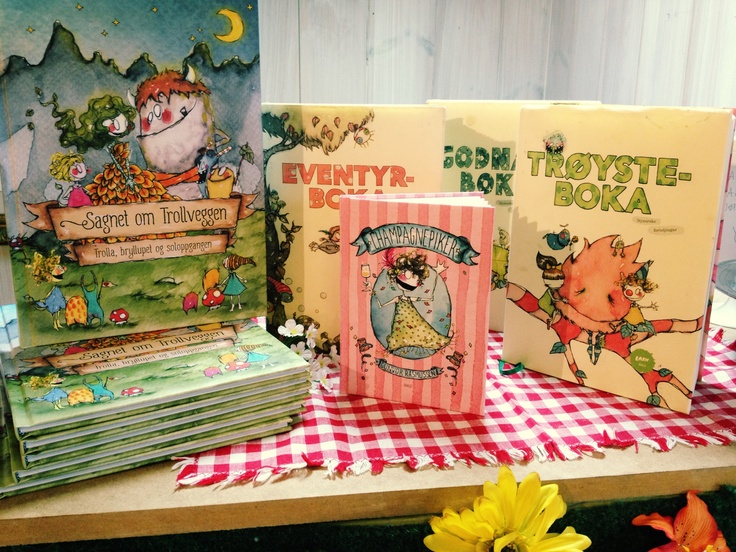 My books! *Gunvor R Illustration* www.gunvor.no #bryggen #bergen #norway