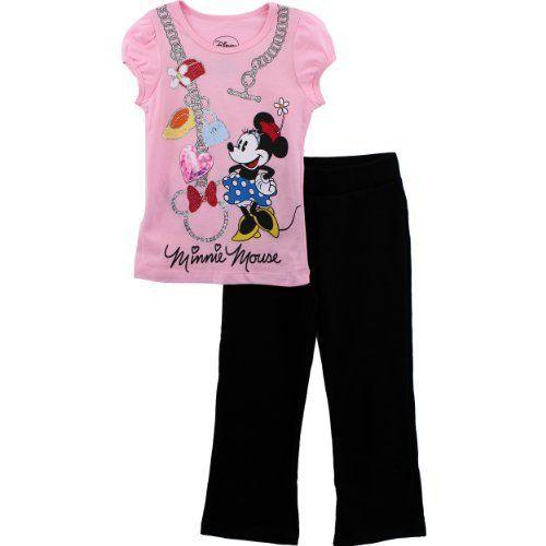 Disney Minnie Mouse Charms Pink Shirt  Pants Set 4-6X  Price : $21.99 http://www.yankeetoybox.com/Disney-Minnie-Mouse-Charms-Shirt/dp/B00BY65ZKO