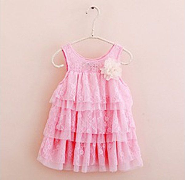 Pink toddler baby girl lace dress SIZE 12 month by Crystalsandbubz on Etsy