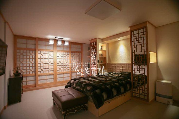 침실 사진 : 현대공간과 잘 어울리는 퓨전 한옥인테리어   homify