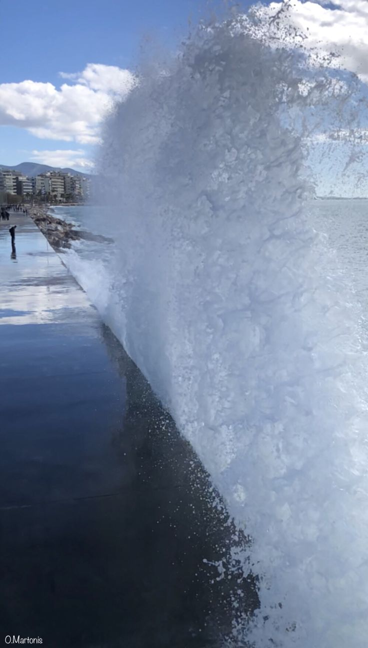 Waves at Flisvos,Athens,Greece