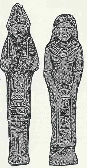 In 1914, an archaeologist was excavating some Mayan ruins in the city of Acajutla, El Salvador and discovered two statuettes, a man and woman, wearing ancient Egyptian dress and cartouches, possibly a depiction of Osiis and Isis.