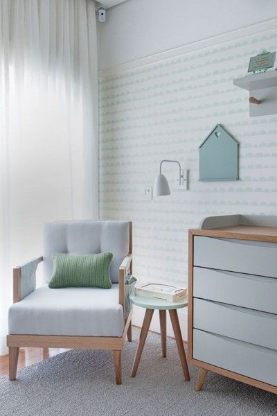 Ideias para usar papel de parede em quartos infantis