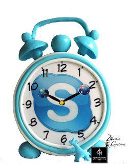 Skype Edible Clock Cake!