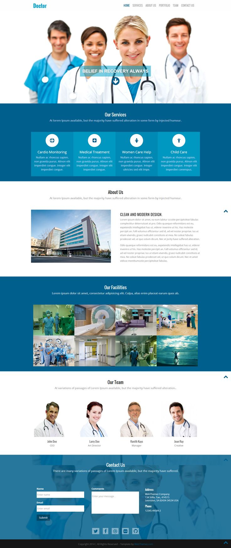 #Bootstrap #FreeResponsiveWebsites #ResponsiveTemplates #HTML5Templates #FreeWeb #Responsive #webthemez #mobileWebsite #freeWebsite #HTML5 #Doctor is the best HTML5 theme designed for all the Doctors, #Dentists and #Health #Consultants out there that need a professional yet modern looking website. This HTML template comes packed with medical features and enables them to interact easier.
