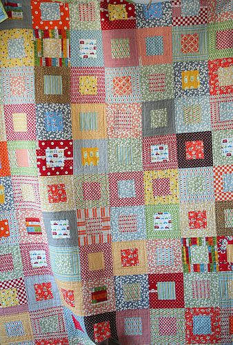 I think this is my favorite quilt pattern. I love the scrappiness of this one from Alison at Cluck Cluck Sew.