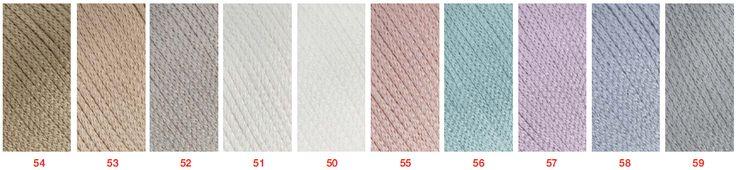 fir de tricotat și croșetat din bumbac și mătase naturală